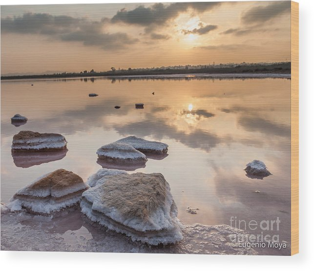 Wood Print featuring the photograph Sunset by Eugenio Moya