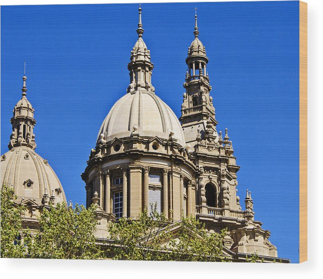 Barcelona Wood Print featuring the photograph Barcelona Architecture by Jon Berghoff