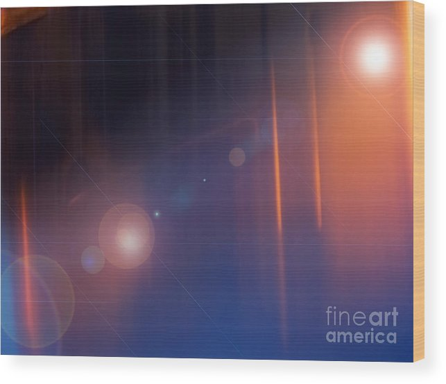 Blue Wood Print featuring the photograph Background Flare by Tim Hester