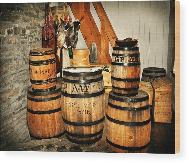 Rustic Wood Print featuring the photograph Barrels by Marty Koch