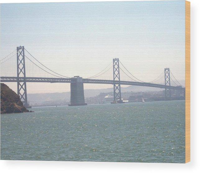 Bay Bridge Wood Print featuring the photograph Bay Bridge by Pharris Art