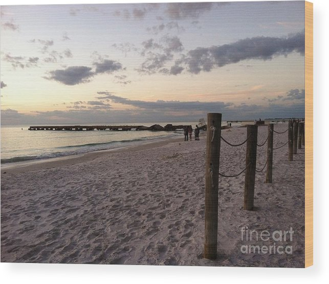 Landscape Wood Print featuring the photograph Beachscape by Melissa Darnell Glowacki
