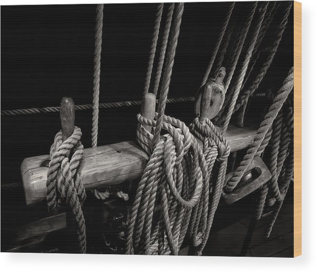 Belay Pin Wood Print featuring the photograph Belay Pins by Fred LeBlanc