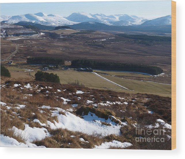 Cairngorm Mountains Wood Print featuring the photograph Cairngorms Mountains From Dorback by Phil Banks