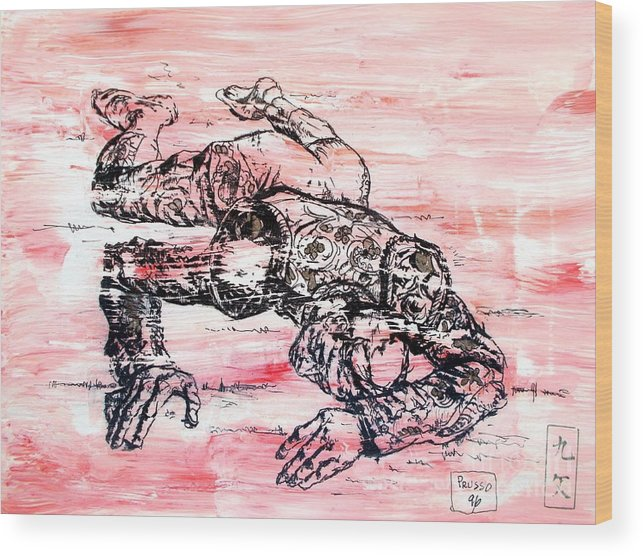 Original Wood Print featuring the painting Death Of A Matador by Roberto Prusso