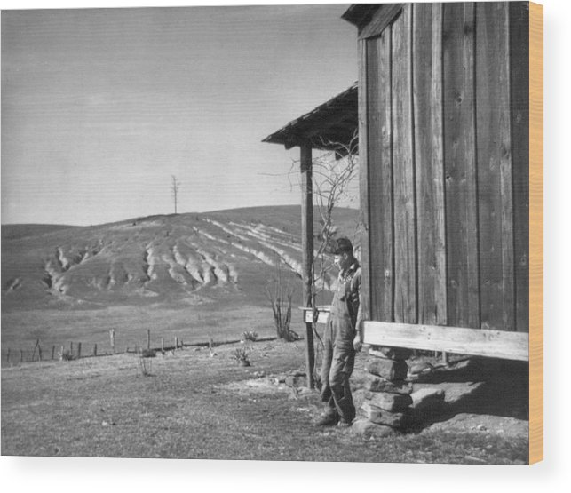 1937 Wood Print featuring the photograph Farm Erosion, 1937 by Granger