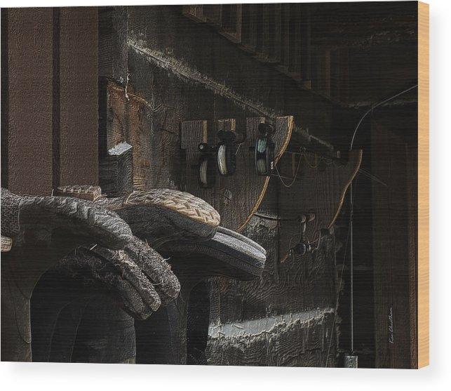 Fishing Boots Wood Print featuring the digital art Fishing Gear by Kae Cheatham