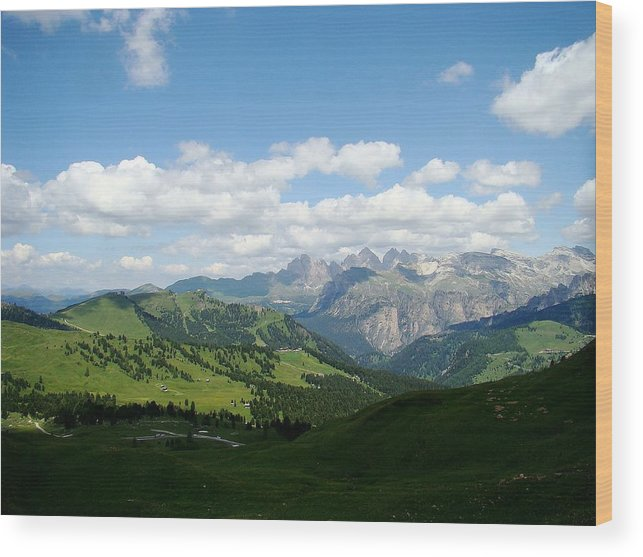 The Dolomites Wood Print featuring the photograph Le Dolomiti by Zinvolle Art