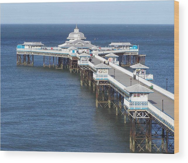 Piers Wood Print featuring the photograph Llandudno Pier by Christopher Rowlands