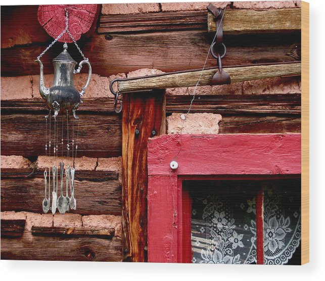 Log Cabin Wood Print featuring the photograph Colorado Cabin by Arthur Bradley