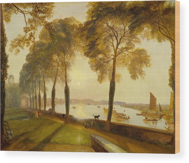 1827 Wood Print featuring the painting Mortlake Terrace by JMW Turner