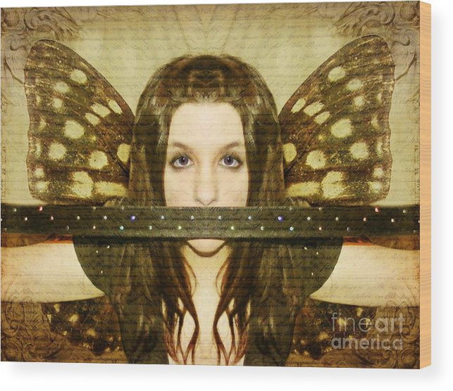 Angel Wood Print featuring the photograph Mute Witness by Heather King