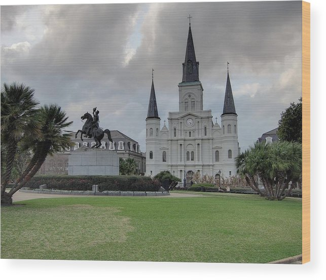 New Wood Print featuring the photograph New Orleans - Seen On The Streets - 121240 by DC Photographer