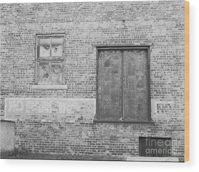 Brick Wood Print featuring the photograph No Parking Zone by Randy W Riddle