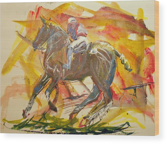 Polo Wood Print featuring the painting Polo by Diane Wallace