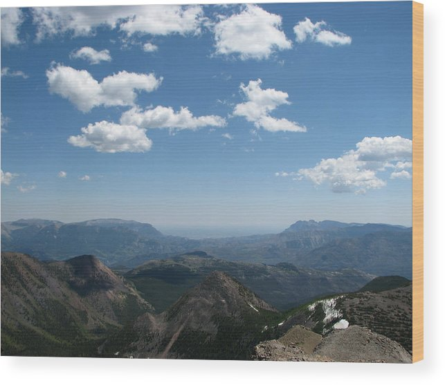 East Of Prairie Reef Fire Lookout Wood Print featuring the photograph Prairie Reef Lookout East by Pam Little