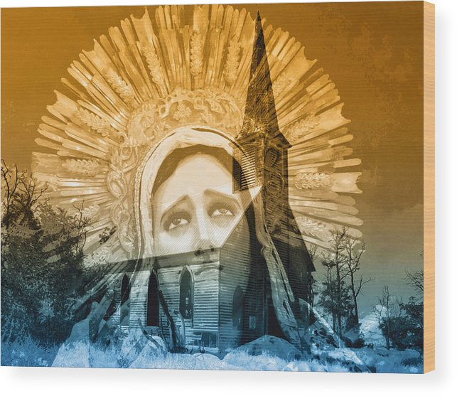 Queen Of Angels Wood Print featuring the photograph Queen Of Angels by Dominic Piperata