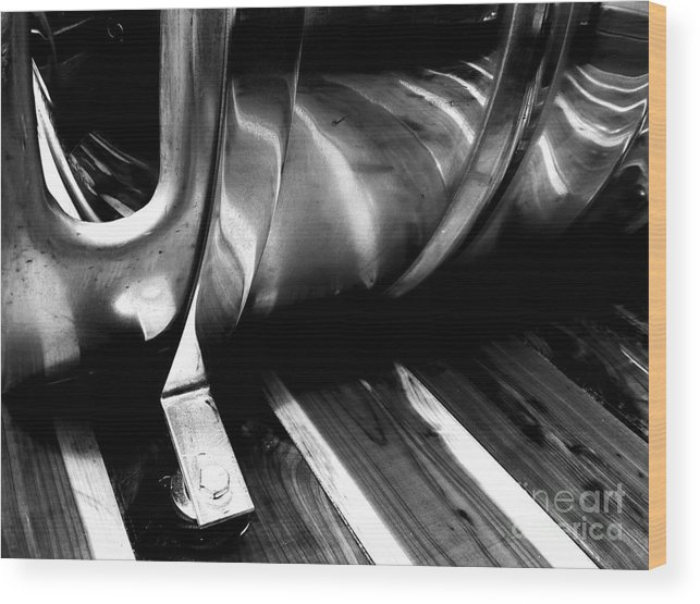 Jamie Lynn Gabrich Wood Print featuring the photograph Reflections Bw by Jamie Lynn