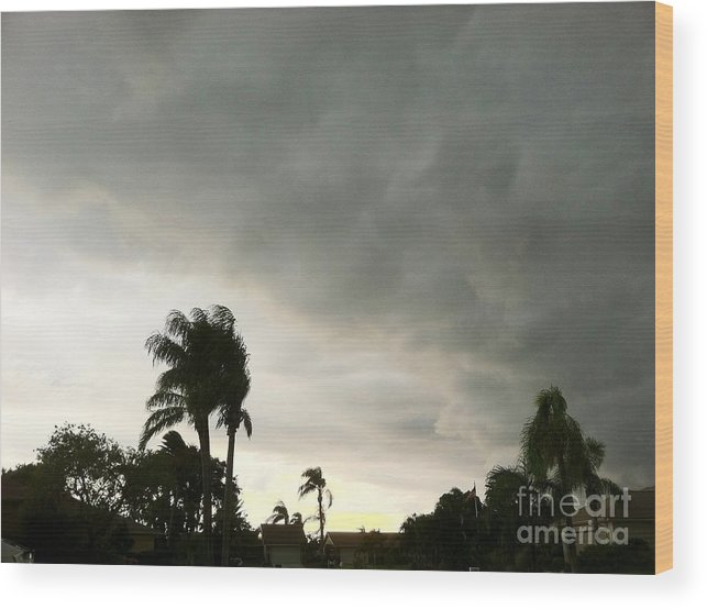 Sunset Wood Print featuring the photograph Riders On The Storm by Melissa Darnell Glowacki