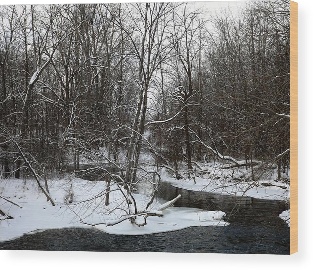Chippewa River Wood Print featuring the photograph River Bends by Linda Kerkau