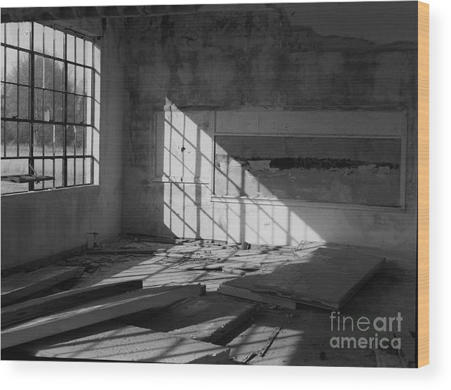 Architecture Wood Print featuring the photograph School's Out Forever by Randy W Riddle