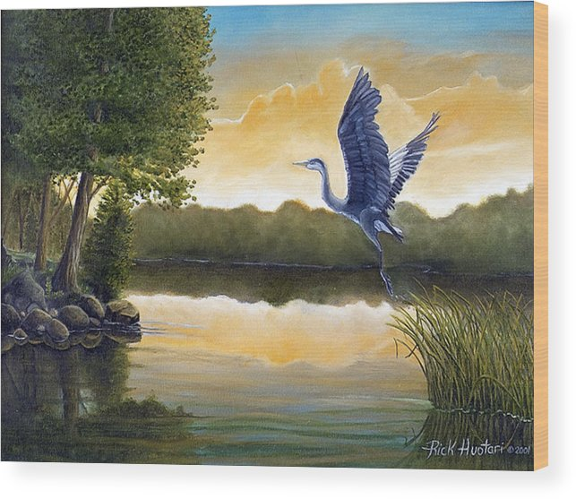 Rick Huotari Wood Print featuring the painting Serenity by Rick Huotari