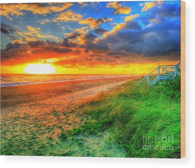 Seascape Wood Print featuring the photograph Stairway To Heaven by Rocky Fikki
