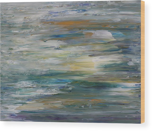 Abstract Wood Print featuring the painting Summer Light by Bonnie Lanzillotta