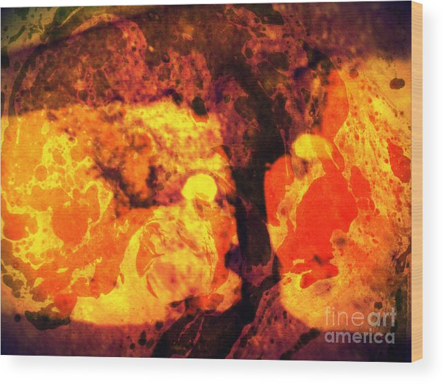Abstract Wood Print featuring the mixed media Teit by Daniel Brummitt