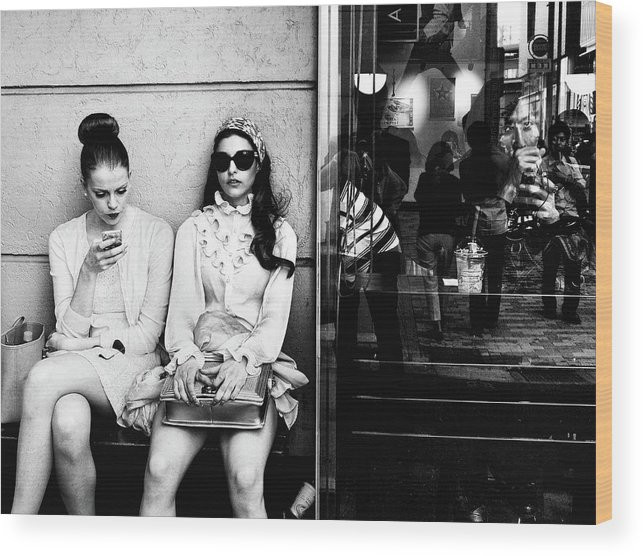 Street Wood Print featuring the photograph The Other Side by Tatsuo Suzuki