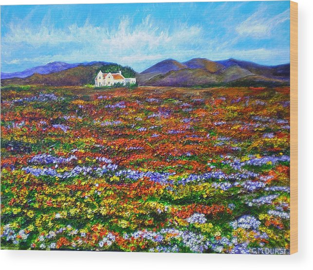 Flower Wood Print featuring the painting This Must Be Heaven by Michael Durst
