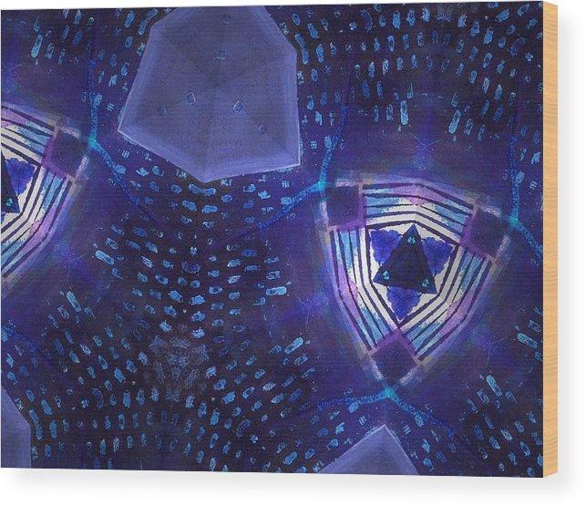 Digital Wood Print featuring the digital art Vibrant Shades Of Blue 7 by Rick Hurst