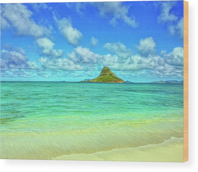 Chinaman's Hat Wood Print featuring the painting View Of Chinaman's Hat by Dominic Piperata