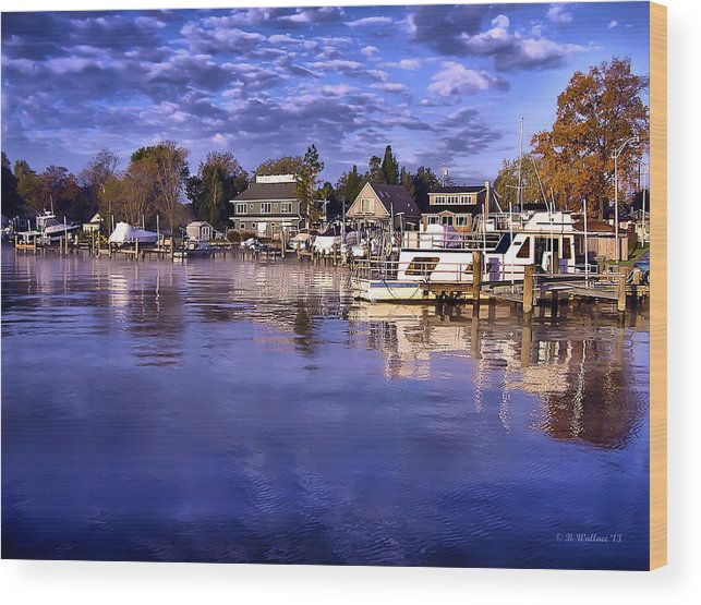 2d Wood Print featuring the photograph Waterfront Morning by Brian Wallace
