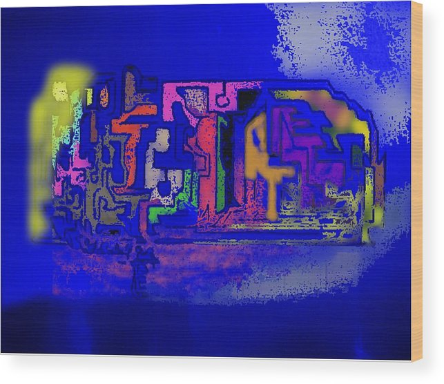 Digital Art .abstract Art Wood Print featuring the digital art Whats Up Joe by Gregory Steward