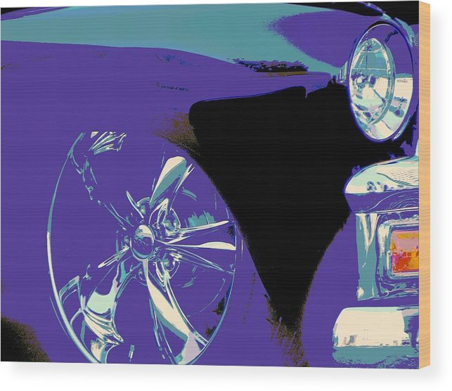 Hot Rod Pick-ups Wood Print featuring the photograph First 55 by Chuck Re