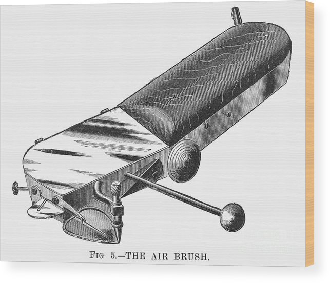 1886 Wood Print featuring the photograph Airbrush, 1886 by Granger