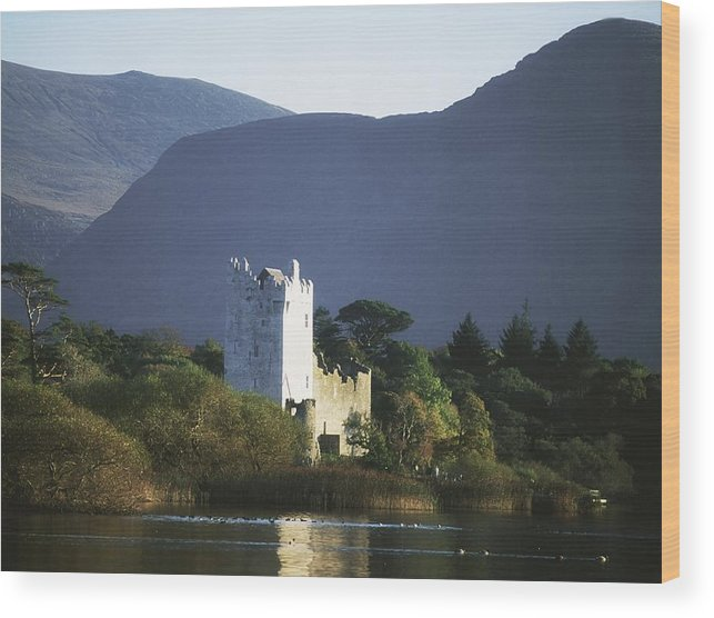 Architectural Heritage Wood Print featuring the photograph Co Kerry, Killarney, Ross Castle by The Irish Image Collection