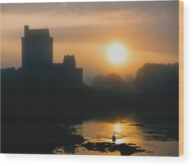 Outdoors Wood Print featuring the photograph Dunguaire Castle, Kinvara, Co Galway by The Irish Image Collection