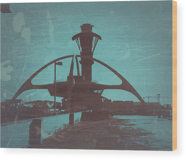 Wood Print featuring the photograph LAX by Naxart Studio