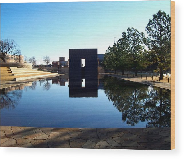 Memorial Wood Print featuring the photograph Oklahoma City Memorial by David Reese