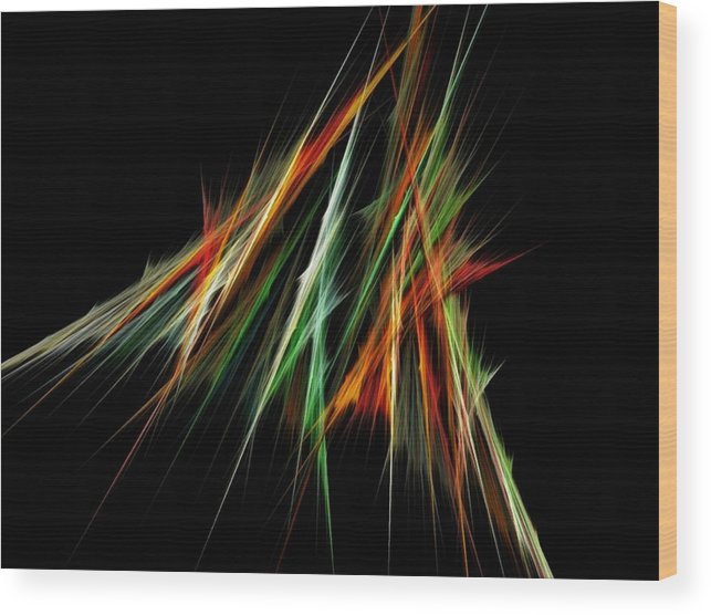 Spike Wood Print featuring the digital art Spiked by Sara Raber