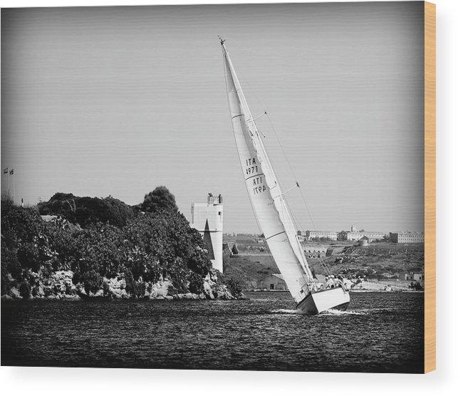 Tall Ship Wood Print featuring the photograph Tall Ship Race 1 by Pedro Cardona Llambias
