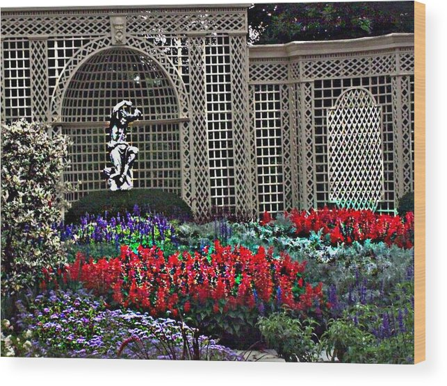 Flowers Wood Print featuring the photograph Kingwood Center by Crystal Webb