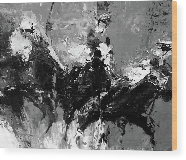 Wood Print featuring the painting 11 by Heather Roddy