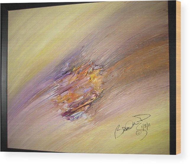 Original Abstract Masterpiece Wood Print featuring the painting Original Abstract Masterpiece by Brenda Basham Dothage