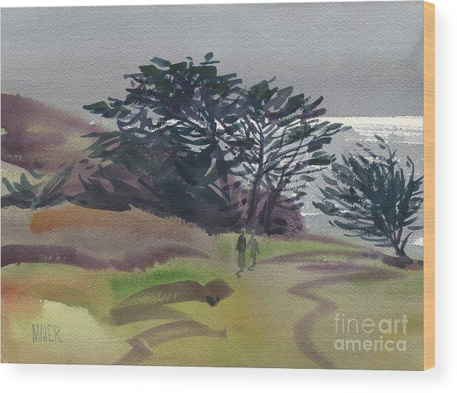 Plein Air Wood Print featuring the painting Miramonte Point 1 by Donald Maier