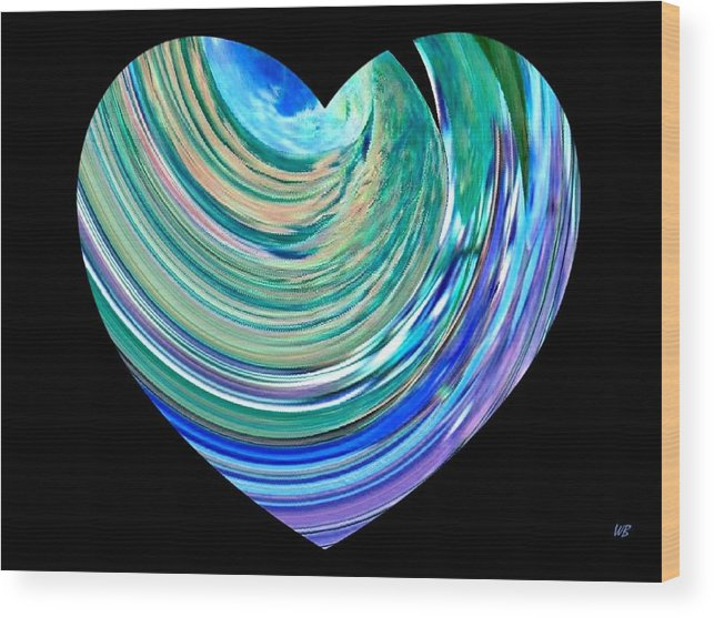 Broken Heart Wood Print featuring the digital art A Broken Heart by Will Borden