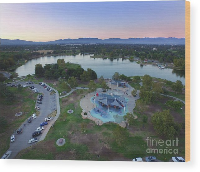 Lake Wood Print featuring the photograph Aerial View Of Lake Balboa Park by Konstantin Sutyagin