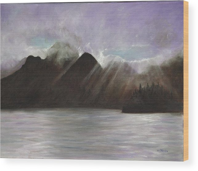 Waterscape Wood Print featuring the painting Alaskan Morning by Merle Blair